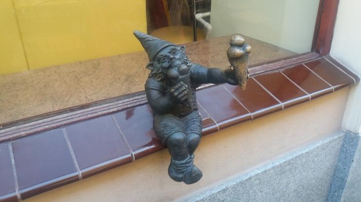Dwarf at Lody Ice Cream Wroclaw Poland